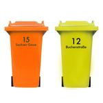 Personalised Bin Sticker with House Number and Street Name 001
