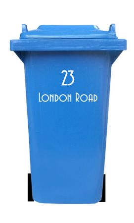 Bin sticker with house number and street name – Bild 5
