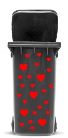 Bin Sticker 'Hearts' – Bild 1