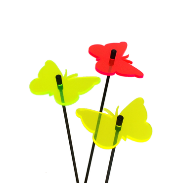 SunCatcher Set of 3 'Butterfly 1', 6cm – image 1