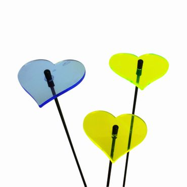 SunCatcher Set of 3 'Heart', 6cm