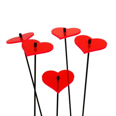 SunCatcher Set of 5 'Heart', 6cm – image 1