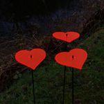 SunCatcher Set of 3 'Heart', 15cm 001
