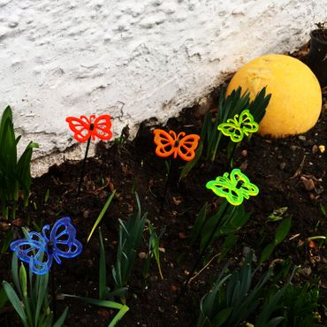 Small SunCatcher Set of 5 'Comma Butterfly' – Bild 3