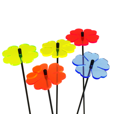SunCatcher Set of 5 'Double Leaf Blossom', 6cm – image 5