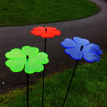 SunCatcher Set of 3 'Double Leaf Flower', 15cm – image 5