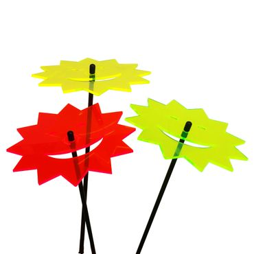 SunCatcher Set of 3 'Laughing Sun', 15cm