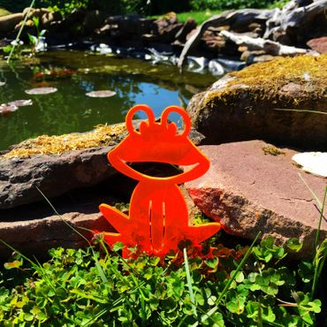 Medium SunCatcher Garden Stake 'Happy Frog' – Bild 4