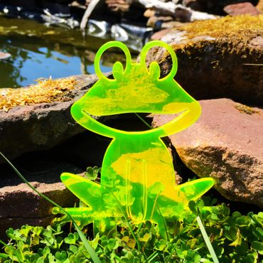 Medium SunCatcher Garden Stake 'Happy Frog' – Bild 9