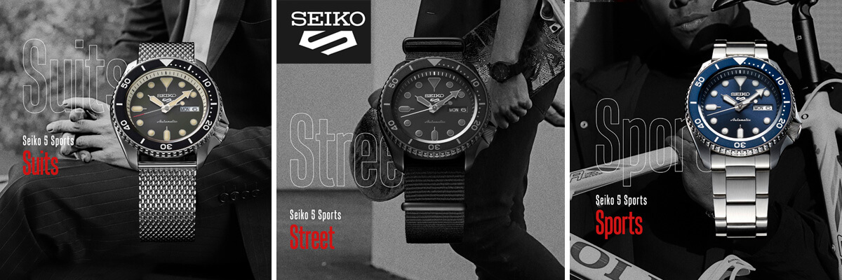 Seiko 5 Sports - Suits, Streets und Sport