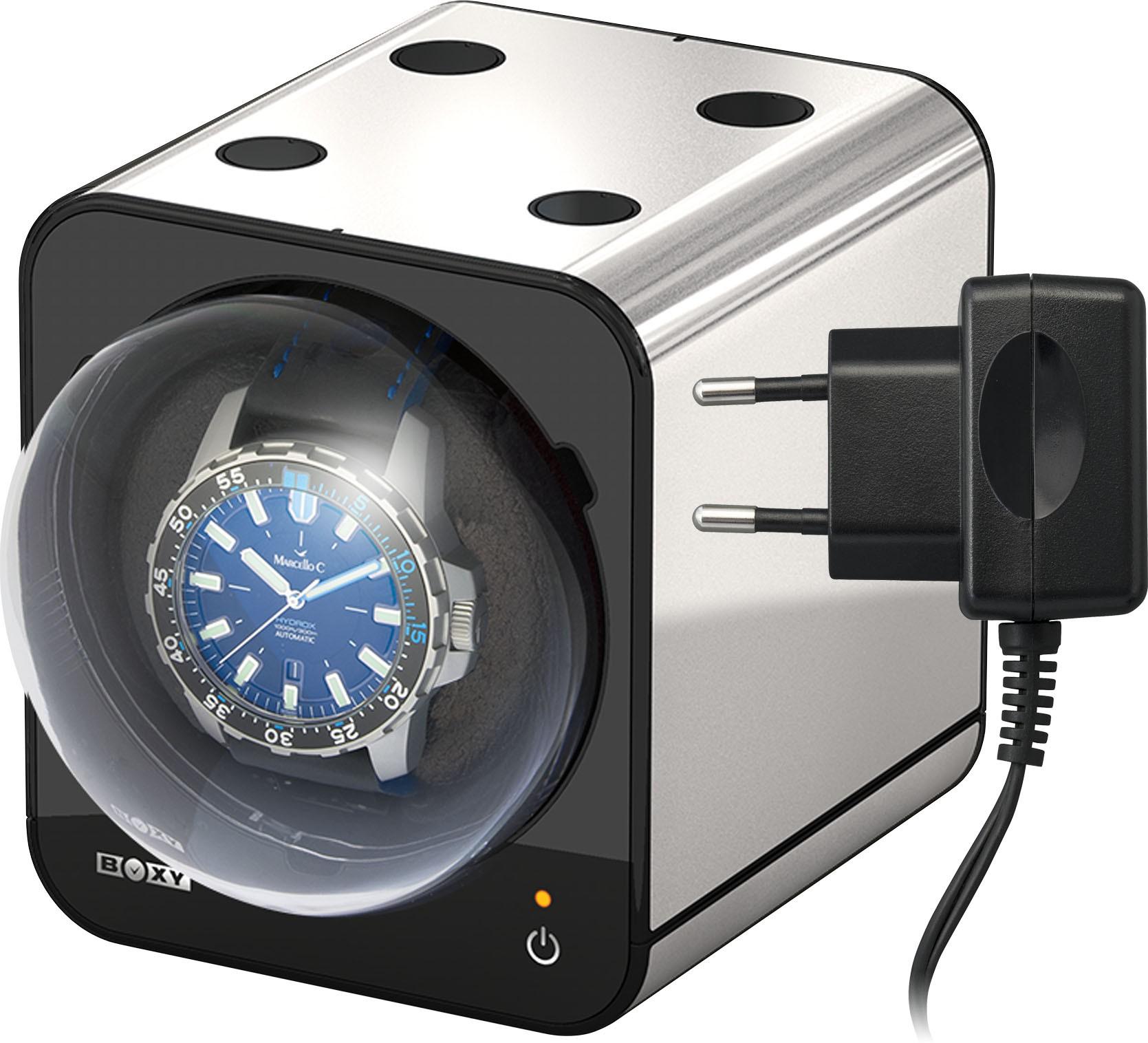 Beco Uhrenbeweger Platinfarben mit Netzadapter