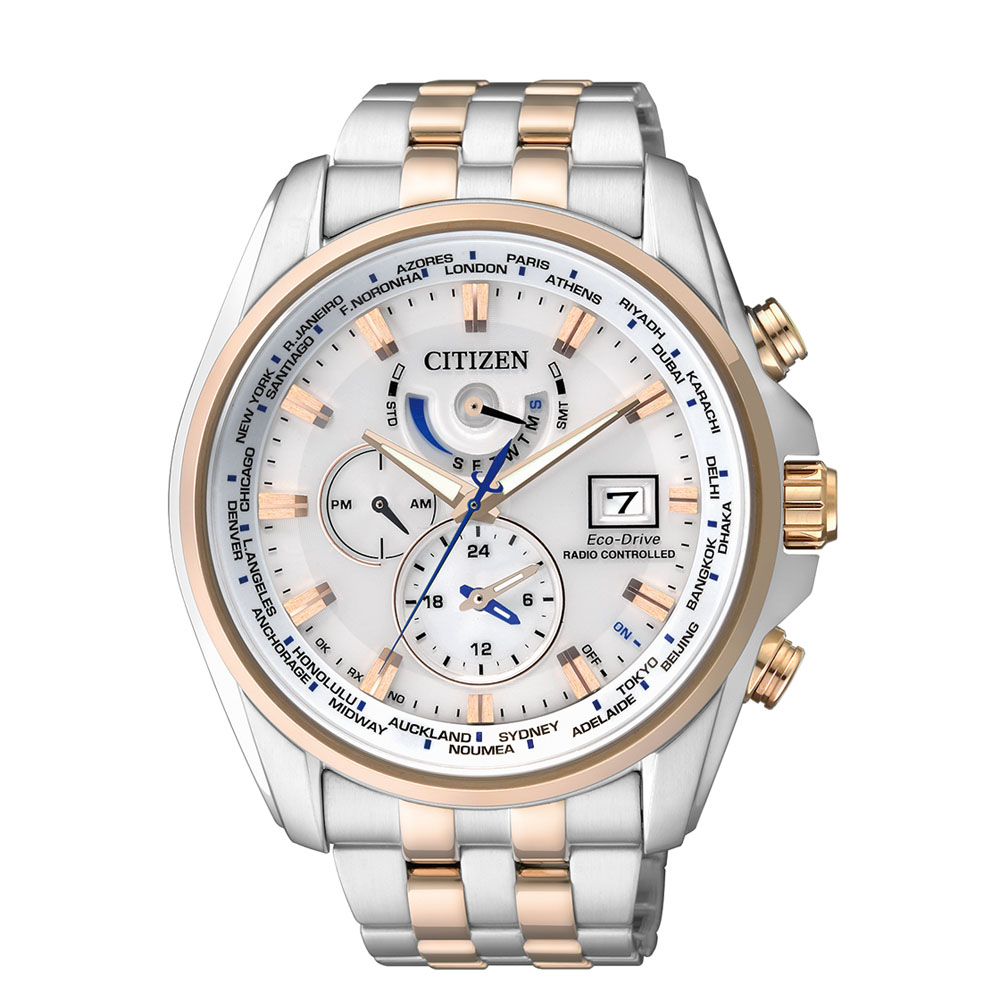 Citizen Bicolor Funksolar Herren Chronograph AT9034-54A