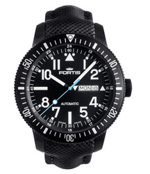 Fortis 647.18.41 LP01 B-42 Diver Black mit Performance Lederband
