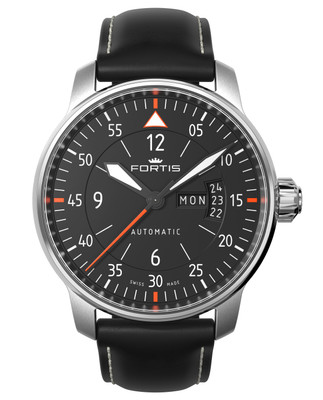 Fortis 704.21.19 L01 Automatik Flieger Cockpit two day / date