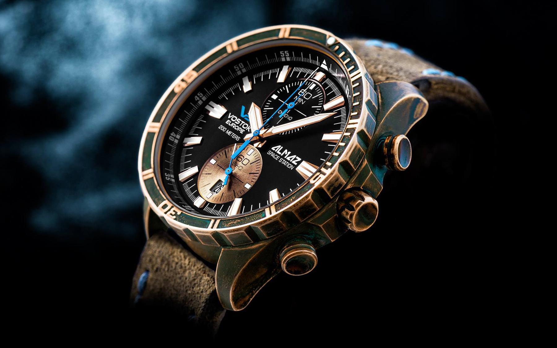 Bild 2 Vostok Europe Almaz 6S11-320O266 Bronze Chronograph