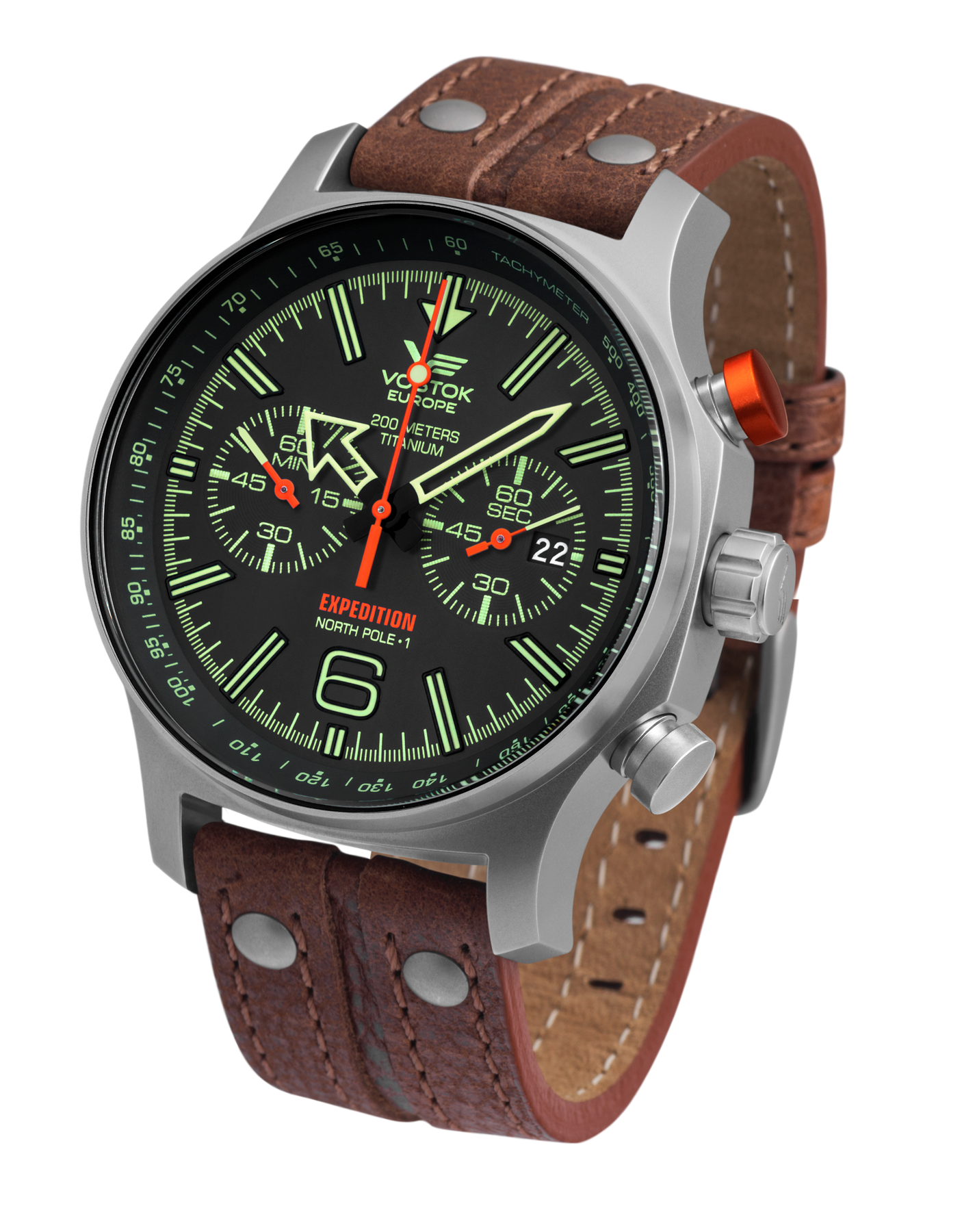 Vostok Europe Expedition Northpole 1 6S21-595H299 Titan Chronograph