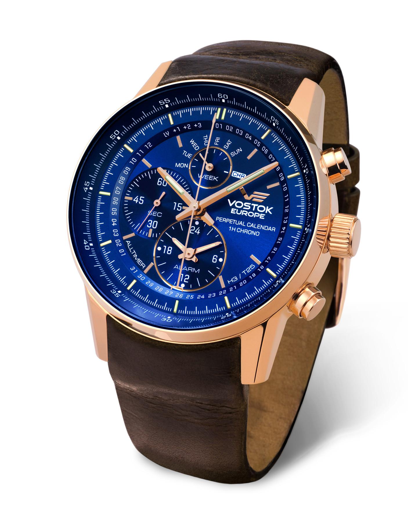 Vostok Europe Alltimer YM86-565B289 Trigalight Alarmchronograph