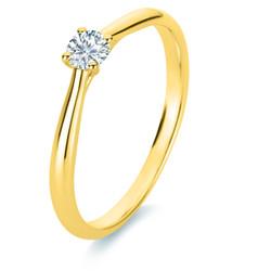 Diamantring 750 Gelbgold Gr. 53, 18 kt mit 1 einem Brillanten 0,20 ct  TW-si 1A289G853-1
