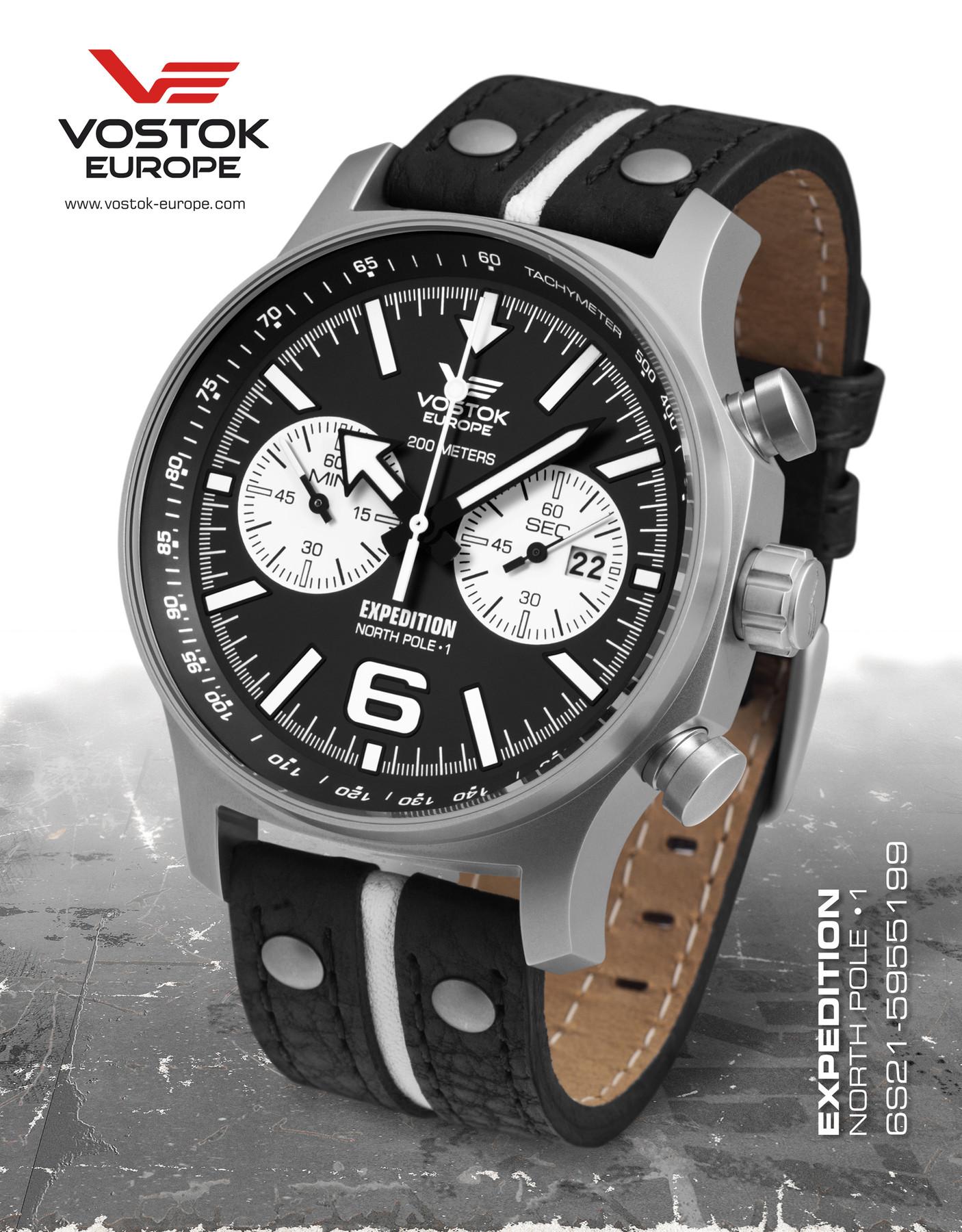 Bild 2 Vostok Europe Expedition Northpole 1 6S21-5955199 Edelstahl Chronograph