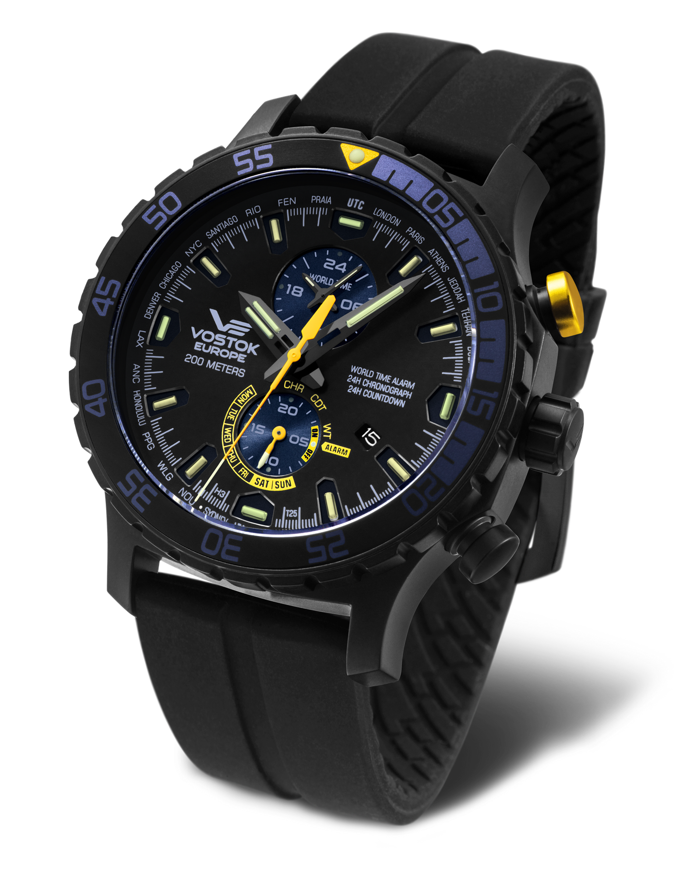 Vostok Europe Expedition Everest Underground YM8J-597C547 Alarmchrono