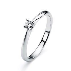 Diamantring Weissgold 14 kt mit 1 einem Brillanten 0,23 ct  TW-si 1A290W854-11