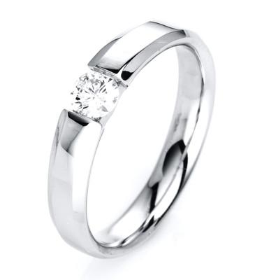 Diamantring Weissgold 14 kt mit 1 einem Brillanten 0,25 ct  TW-si 1J128W454-1