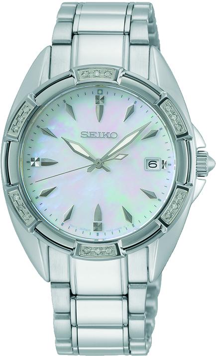Seiko SKK883P1 Quarz Damenuhr mit 18 echten Diamanten