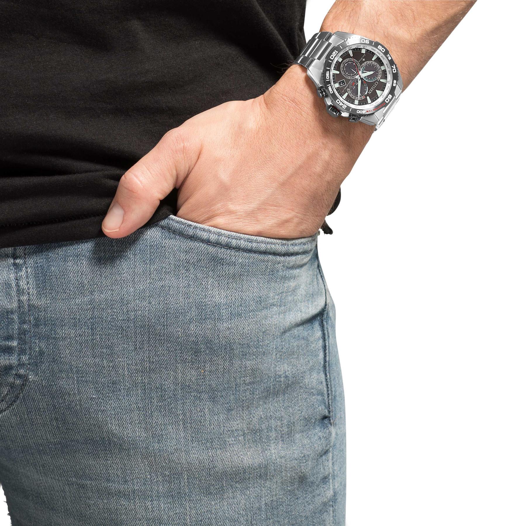 Citizen Promaster Eco Drive Funksolar Chrono CB5036 87X CB5036 aus Edelstahl | Armbanduhren kaufen im Unger Uhren Shop mit Niedrigpreisgarantie