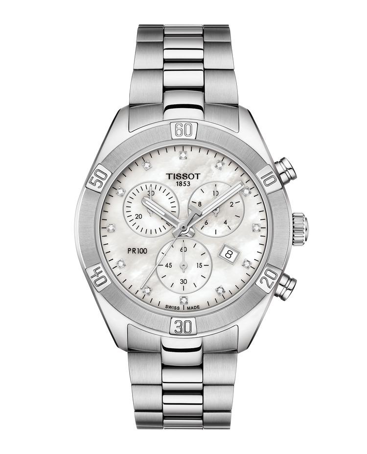 Tissot PR 100 Sport Chic Chronograph T101.917.11.116.00 / T1019171111600 Diamantuhr