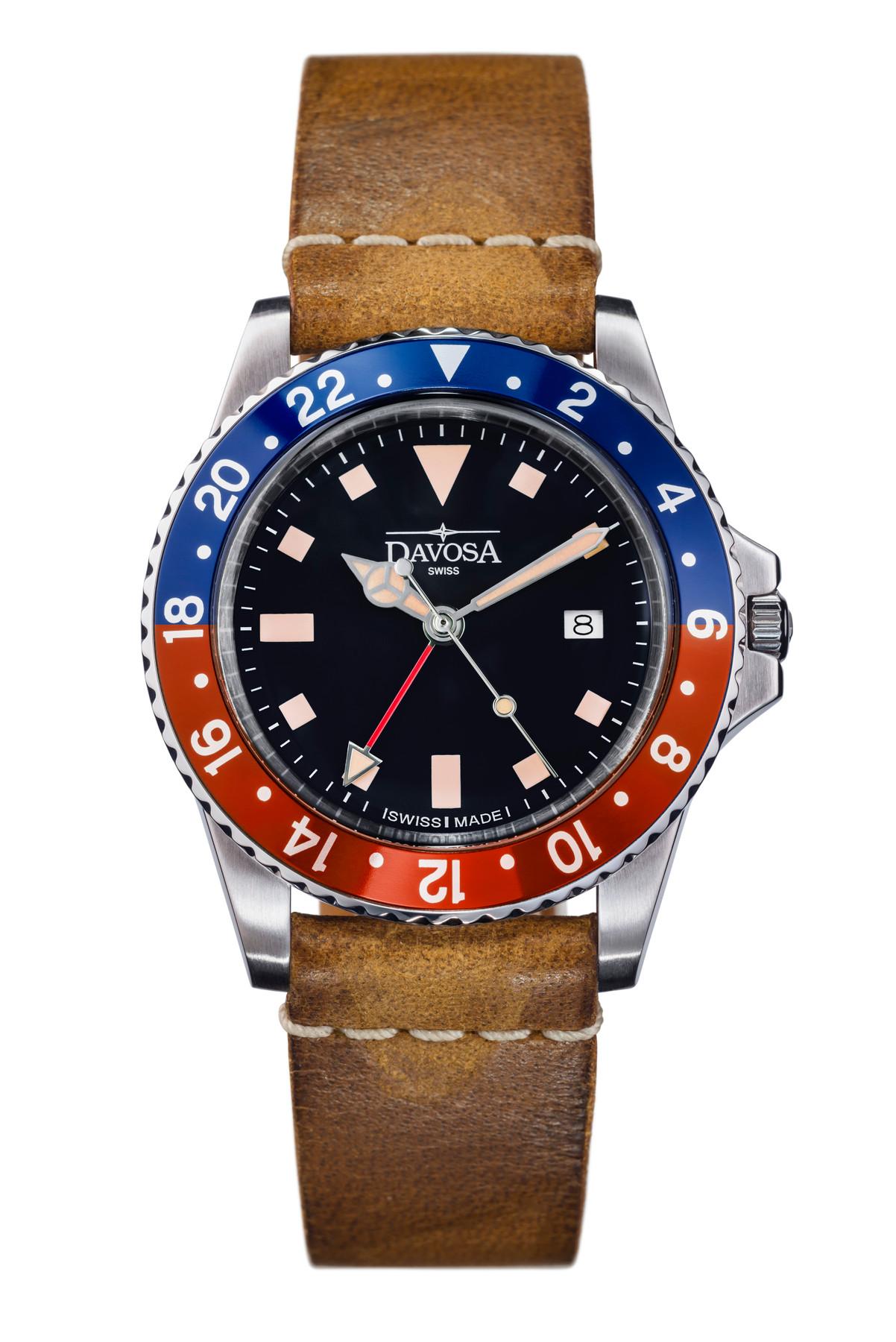 Davosa Vintage Diver Quartz 162.500.95 16250095