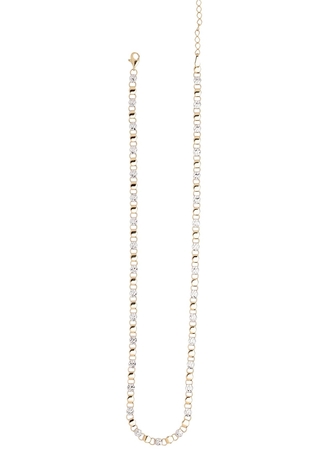 Eder Goldschmuck Gold-Collier 40 cm 14kt | 585 er Gelbgold / Weißgold 15.EG218