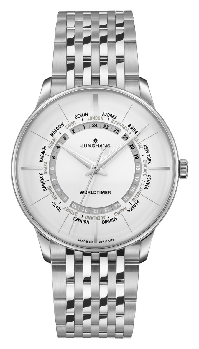 Junghans Meister Worldtimer Automatik Armbanduhr 027/3011.46