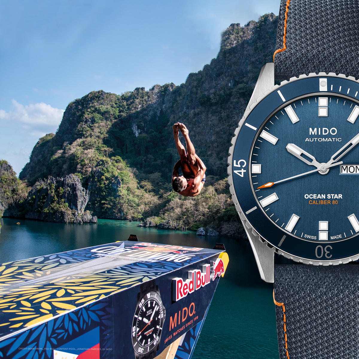 Mido M0264301704100 OCEAN STAR Red Bull Cliff Diving Limited Edition