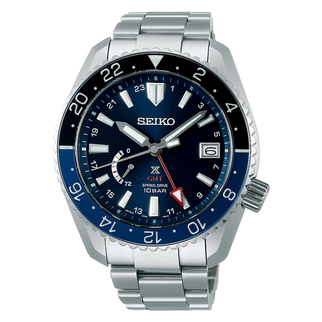 Seiko Prospex LX Line SNR033J1 GMT Spring Drive Diver aus Titan mit Saphirglas
