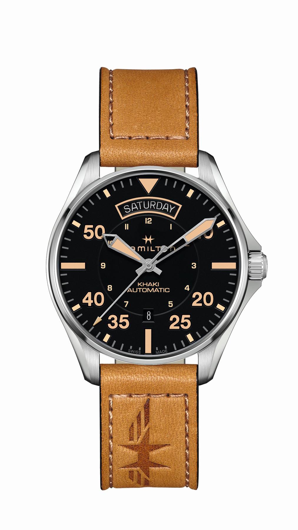 Hamilton H64645531   Khaki Aviation Pilot   Day Date Automatic watch