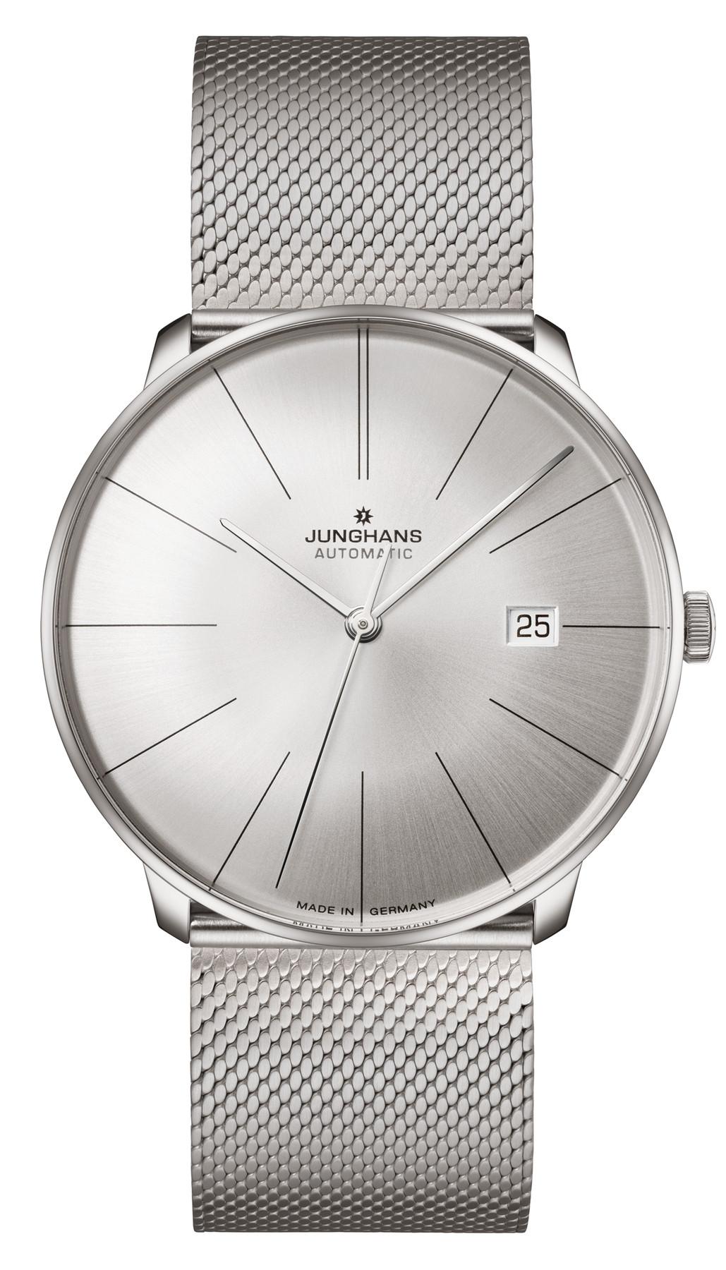 Junghans Meister Fein Automatik Herren Armbanduhr 027/4153.44