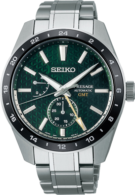 Seiko Presage SPB219J1/ SPB219 sharp edged GMT Herren Automatikuhr mit Saphirglas