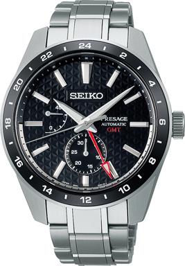 Seiko Presage SPB221J1/ SPB221 sharp edged GMT Herren Automatikuhr mit Saphirglas