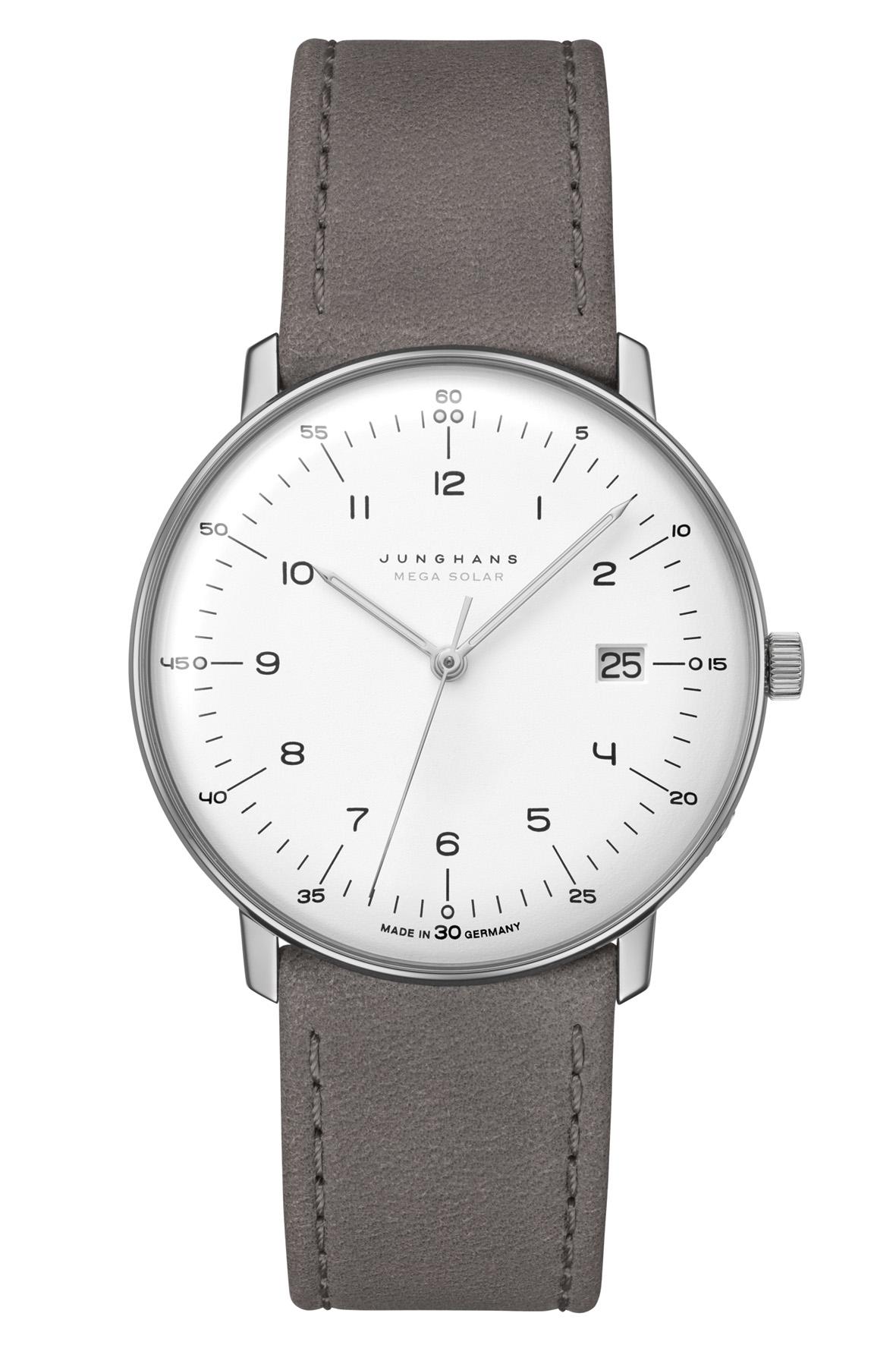 Junghans max bill MEGA Funk Armbanduhr 059/2021.04   59202104 mit Saphirglas Ausstattung