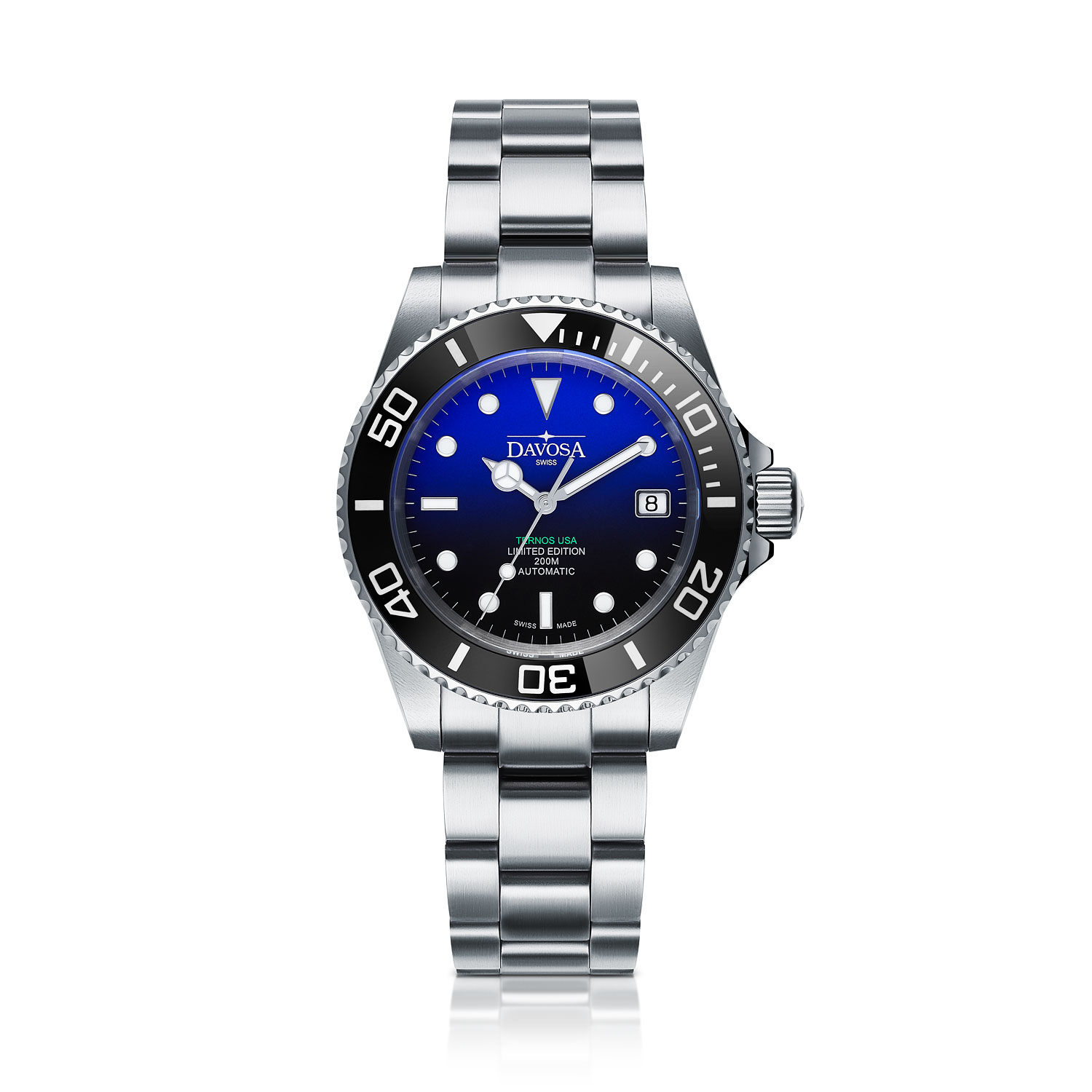 B-Ware Davosa Ternos Ceramic 161.555.99 / 16155599 Automatic TriaLink Limited Edition USA