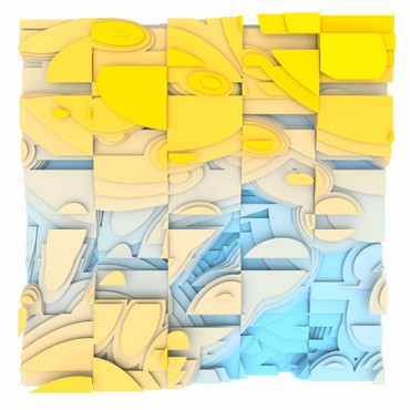 Volumetric Noise - Voronoi Cubism 0819 – Bild 1