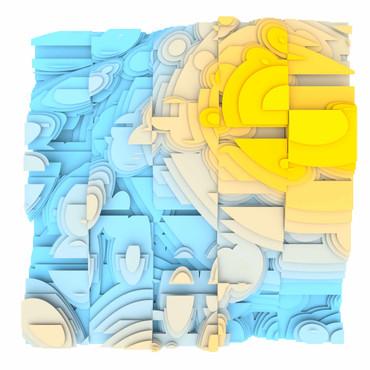 Volumetric Noise - Voronoi Cubism 0825 – Bild 1