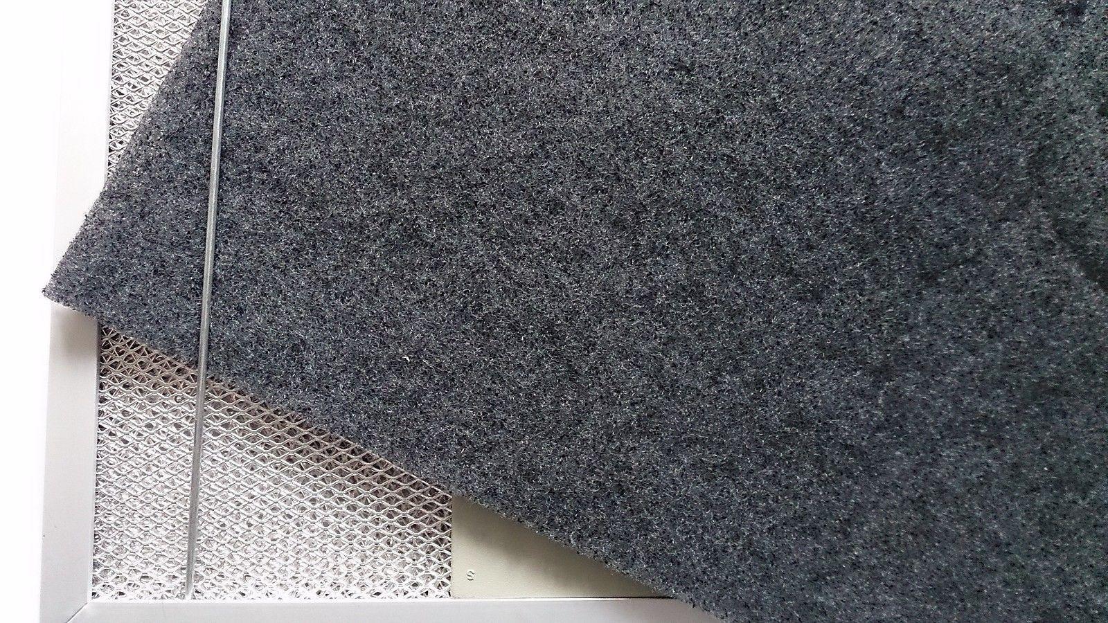 Aktivkohlefilter 55x38cm universalfiltervlies kohlefiltermatte