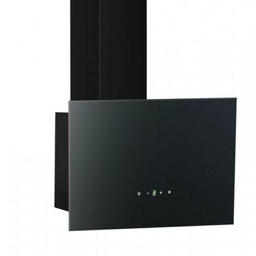 PKM 6036Z LED Dunstabzugshaube 60 cm schwarz Kaminhaube eckig – Bild 1