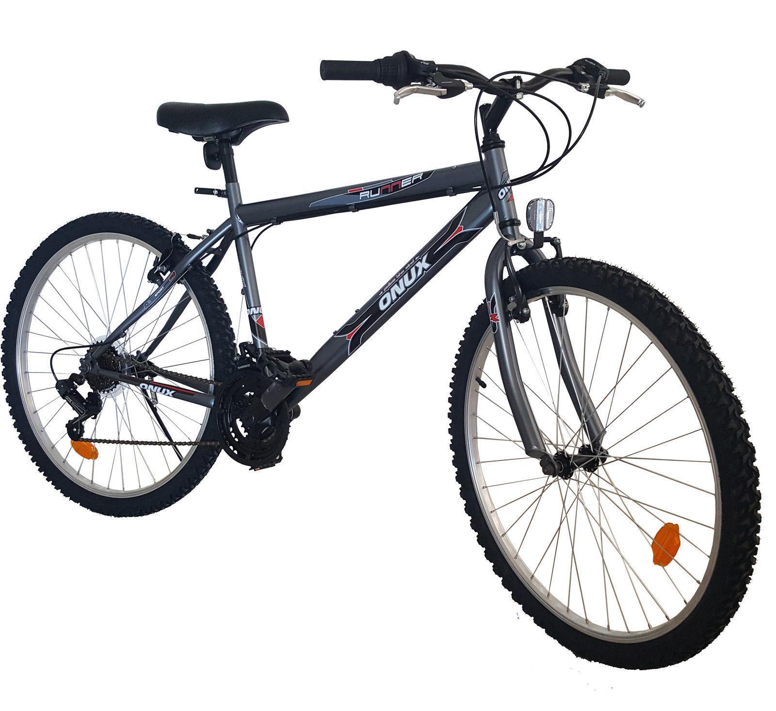 Herren / Damen Mountainbike 26 Zoll / 18 Gang Shimano Fahrrad Alu ...