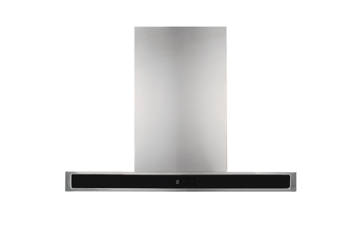 Pkm 8060g z dunstabzugshaube edelstahl glas schwarz for Dunstabzugshaube glas