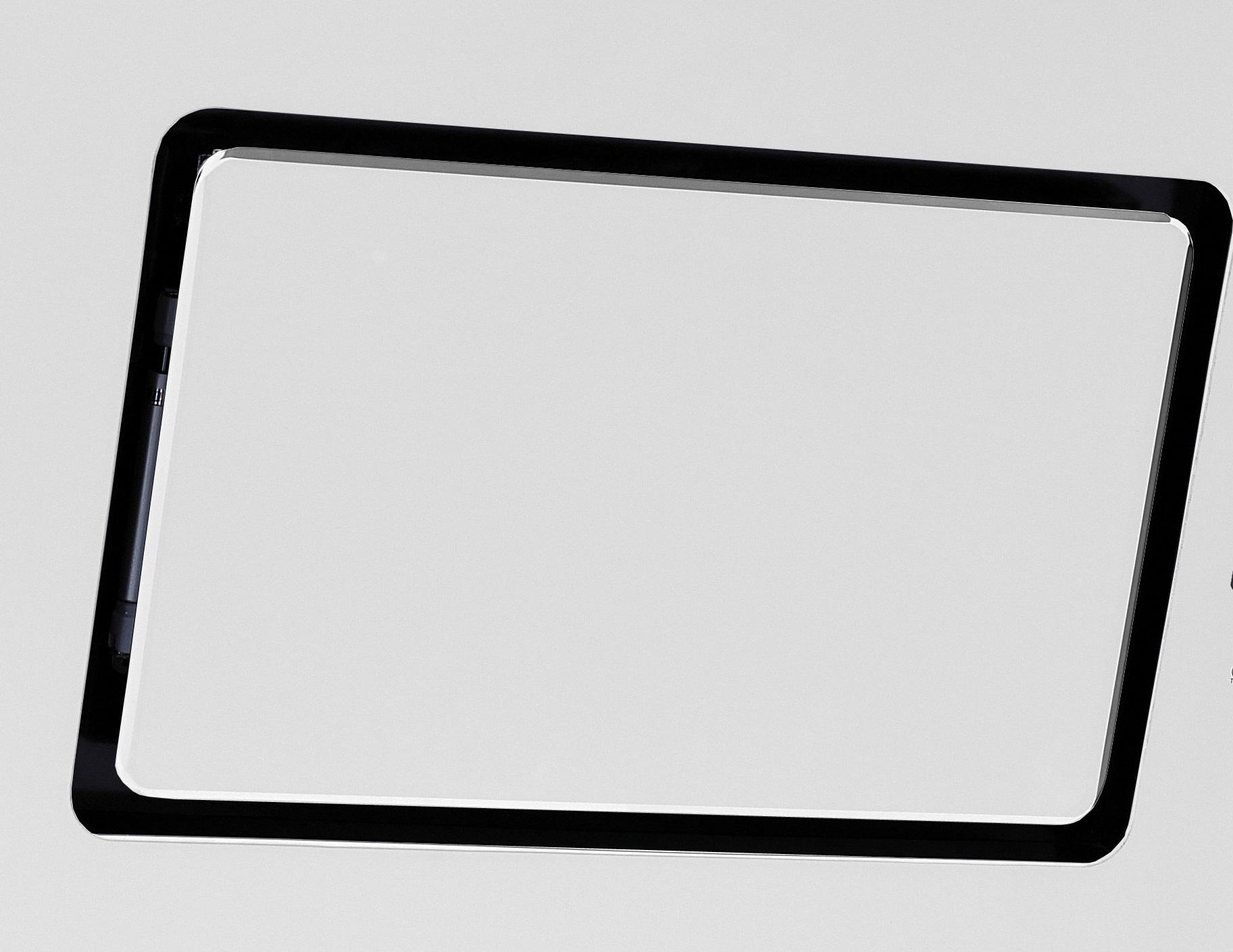 Dunstabzugshaube 9040//90WZ weiß 90cm Glas Kopffreihaube Schräghaube Abluft Touch