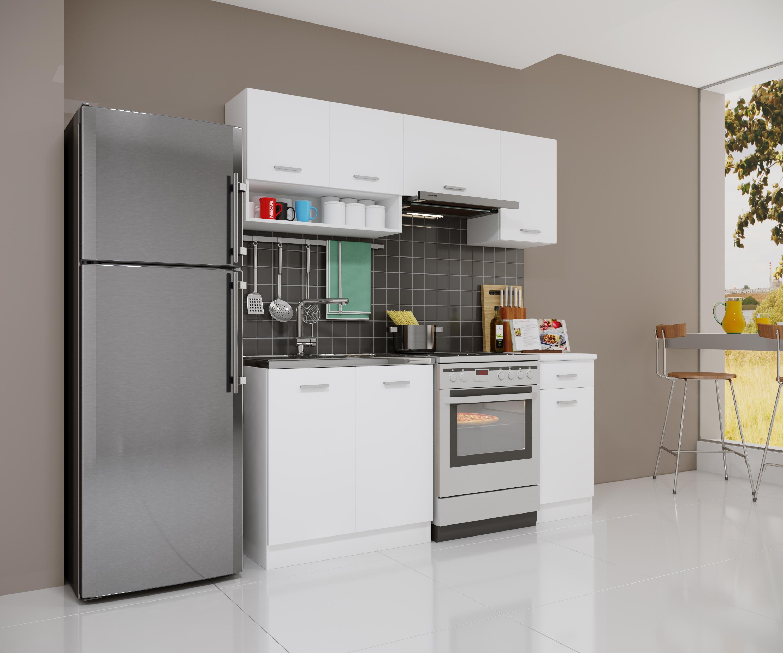 küche singleküche weiß 180cm modulküche einbauküche küchenblock