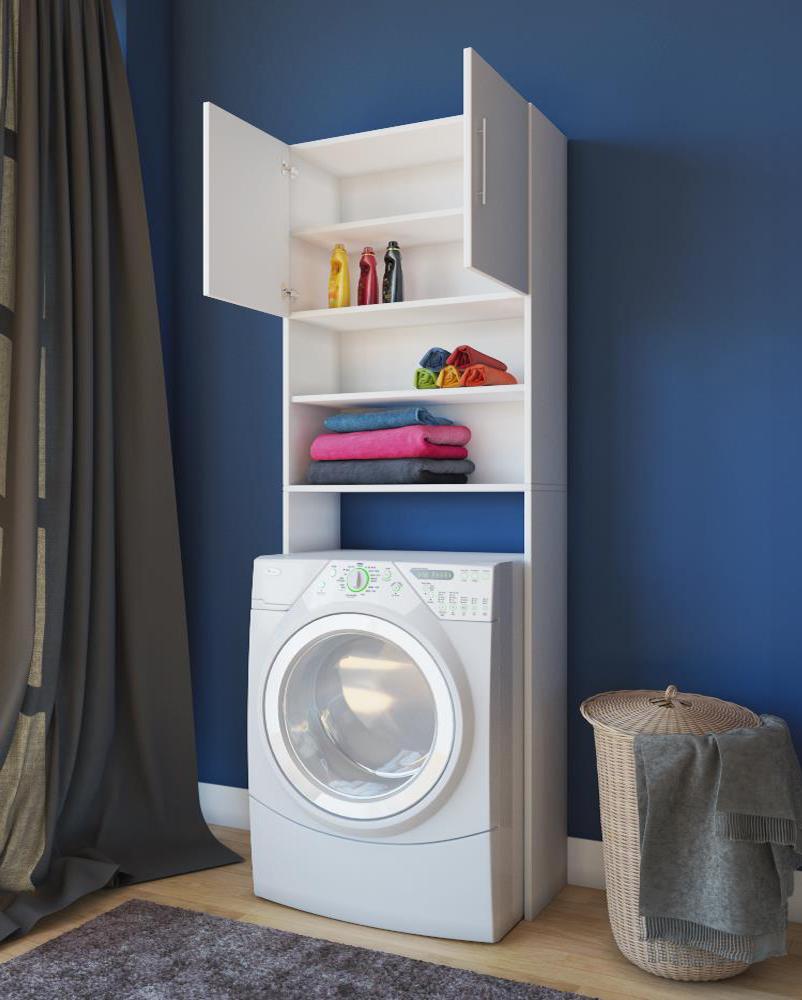 Waschmaschinenschrank Bianco Scaffale per Lavatrici Überbau Überschrank Armadio  eBay
