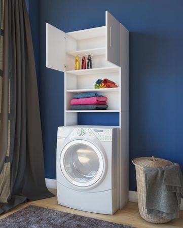 Waschmaschinenschrank weiß Regal für Waschmaschinen Modell Jutas